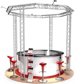 Messestand FD 23 Truss - 3,5 x 3,5 x 3,5 m - 12 m²