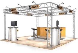 Messestand FD 32 Traversen - 4 x 4 x 2,5 m - 16 m²