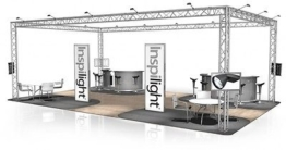 Messestand FD 33 Traversen - 10 x 6 x 3,5 m- 60 m²