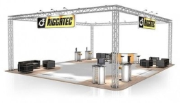 Messestand FD 34 Traversen- 12 x 10 x 4,5 m - 120 m²